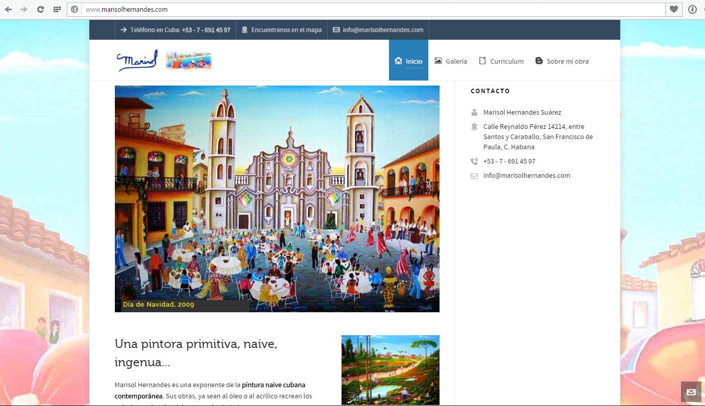 Naive Kunst auf Kuba: neue Webseite von Marisol Hernandes