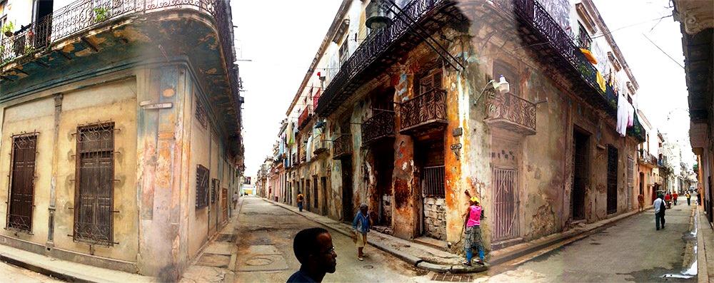 Panorama im ehemaligen Rotlichtviertel am Hafen von Havanna, Kuba