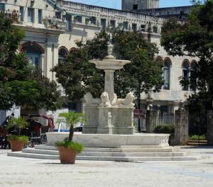 Der Löwenbrunnen in Havannas Altstadt