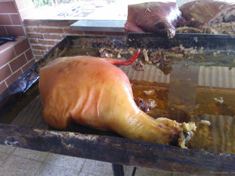 Bild vom Cochinillo - dem kubanischen Spanferkel