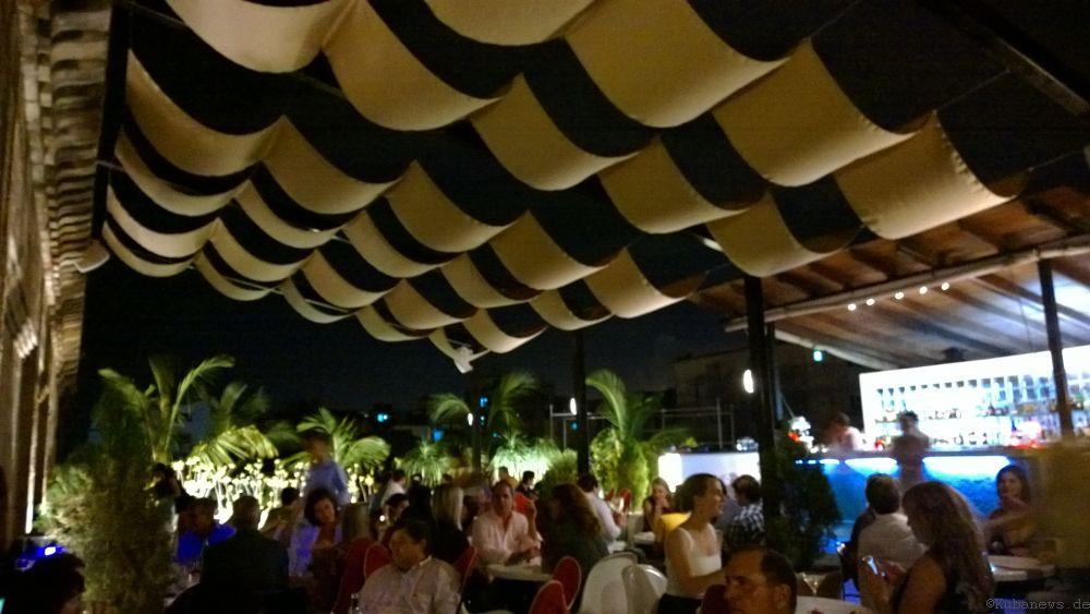 Blick auf die Terrasse des El Cocinero