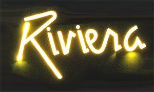 Hotel Riviera Schriftzug