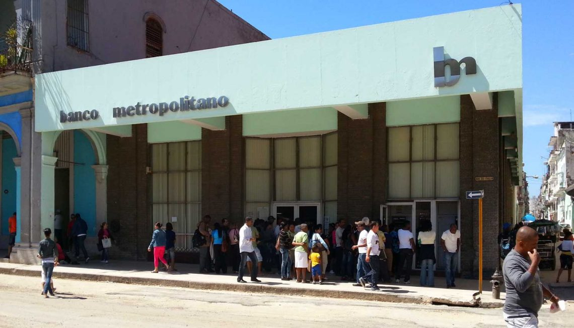 Kubanews: Banco Metropolitano in Havanna zum Abhben von Bargeld geeignet