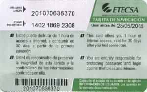 Kubanews: Karte von ETECSA für den Zugang zum Internet
