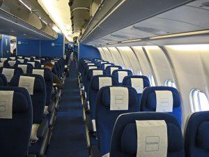 Kubanews: Kabine eines KLM-Flugzeugs
