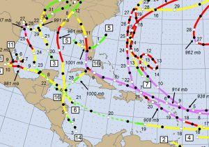 Kubanews: Hurrikan Saison 2017 Kartenausschnitt