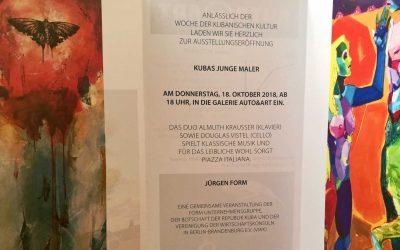 Heute Eröffnung der Ausstellung 'Kubas Junge Maler' in Berlin