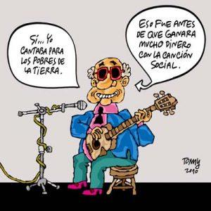 Karikatur der Granma über Silvio Rodríguez