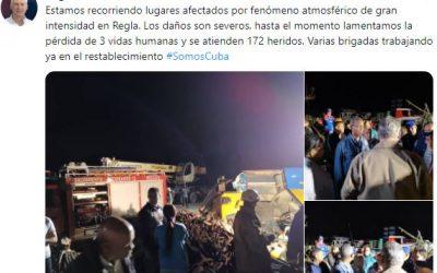 Havanna hat in der Nacht ein Tornado getroffen