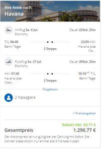 Günstigster Flug im Juli 2019