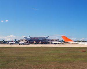 Ankunft in Havanna - Terminal 3 des Flughafens José Martí