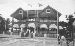 Vor 1922: das erste Clubhaus des Havana Yacht Club
