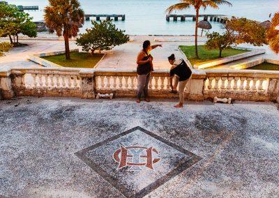 Logo auf dem Zugang in das Clubhaus des Havana Yacht Club