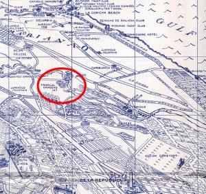 Kubanews: La Tropical Biergärten auf einer Karte von 1956