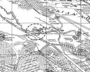 Kubanews: Kartenausschnitt von 1956 mit dem Biergarten der Brauerei Polar.