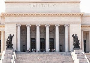 Kubanews: Aufgang zum Kapitol von Havanna mit den Statuen Arbeit und bürgerliche Tugend.