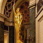 Vergoldete Statue La Republica im Capitol