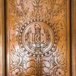 Eine Intarsie des Fahrstuhls im Capitol